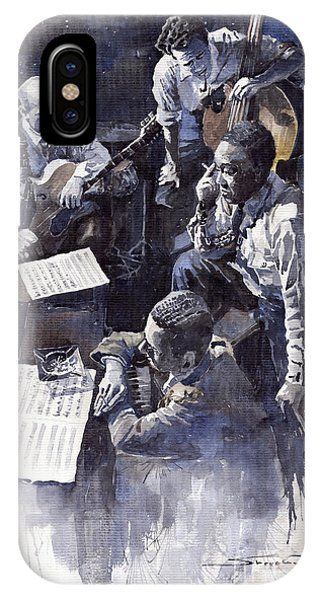 Smallmouth Bass iPhone Case - Jazz Parker Tristano Bauer Safransky Rca Studio Ny 1949 by Yuriy Shevchuk