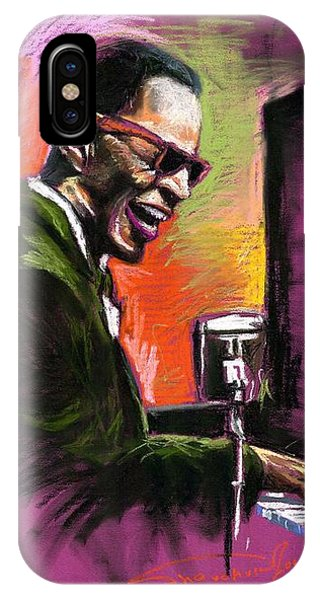 iPhone X Case - Jazz. Ray Charles.2. by Yuriy Shevchuk