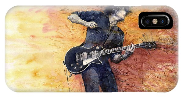 Jazz iPhone Case - Jazz Rock Guitarist Stone Temple Pilots by Yuriy Shevchuk