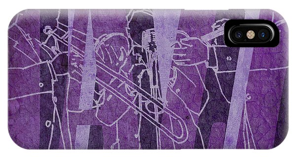 July 4 iPhone Case - Jazz Trio 33 - Purple by Drawspots Illustrations