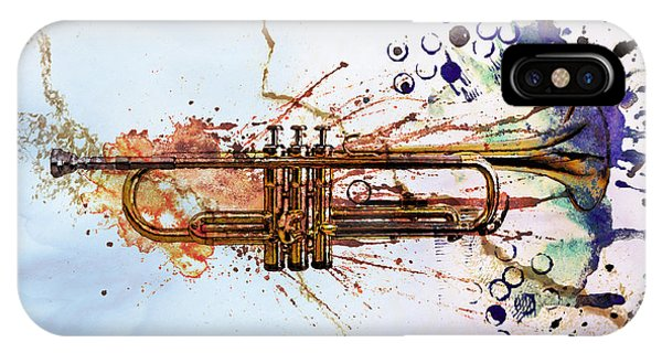 Music iPhone Case - Jazz Trumpet by David Ridley