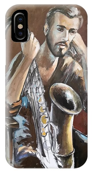 Jazz.saxophone Player Painting  IPhone Case