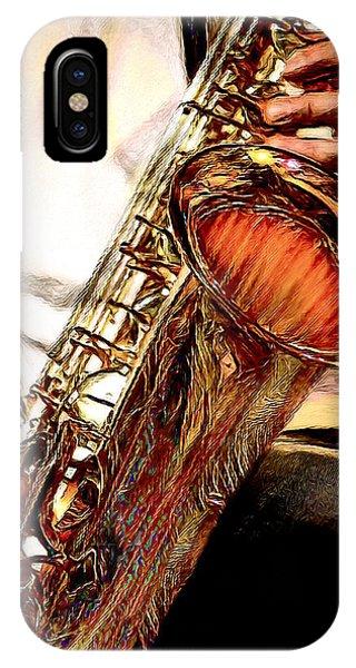 Jazzy Sax IPhone Case