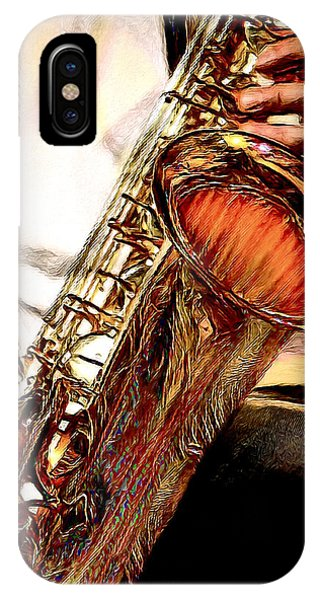 Jazzy Sax IPhone Case