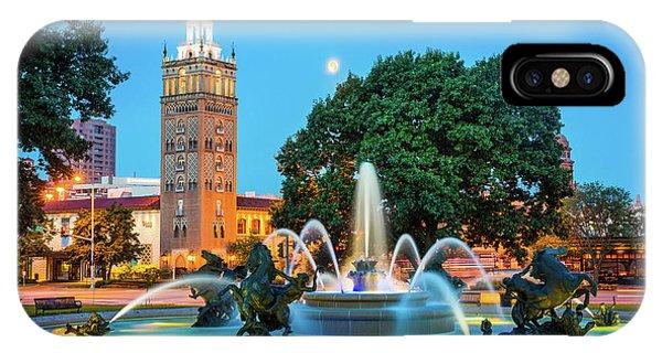 J.c. Nichols Memorial Fountain IPhone Case