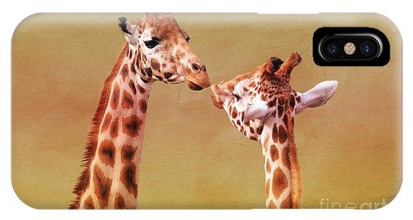 Je T'aime Giraffes IPhone Case