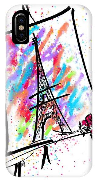 French Painter iPhone Case - Je T'aime Paris by Rachel Christine Nowicki