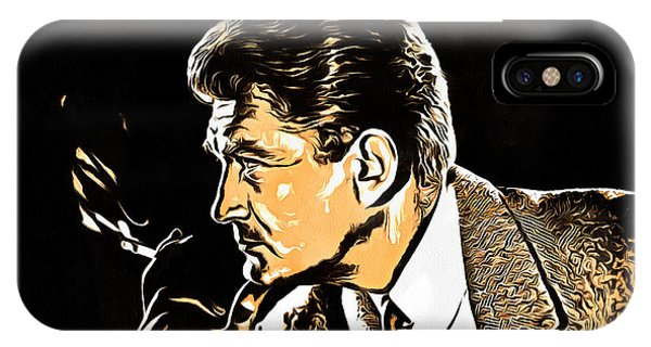 French Painter iPhone Case - Jean Marais Collection - 1 by Sergey Lukashin