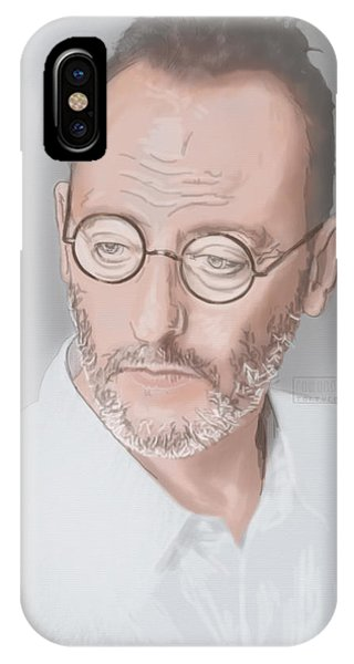 IPhone Case featuring the mixed media Jean Reno by TortureLord Art