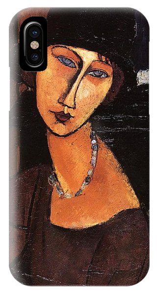 Jeanne Hebuterne With Hat And Necklace IPhone Case