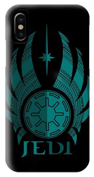 Jedi Symbol - Star Wars Art, Blue IPhone Case