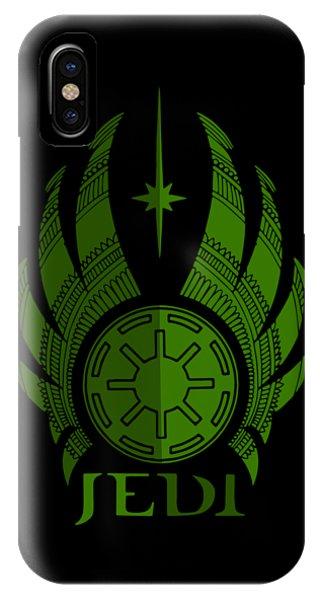 Jedi Symbol - Star Wars Art, Green IPhone Case