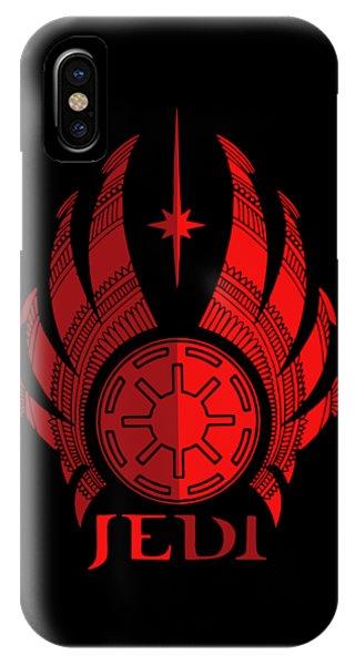 Jedi Symbol - Star Wars Art, Red IPhone Case
