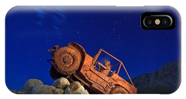 Sam Avery iPhone Case - Jeep Adventures Under The Night Sky In Borrego Springs by Sam Antonio Photography