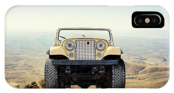 Jeep On Mountain IPhone Case