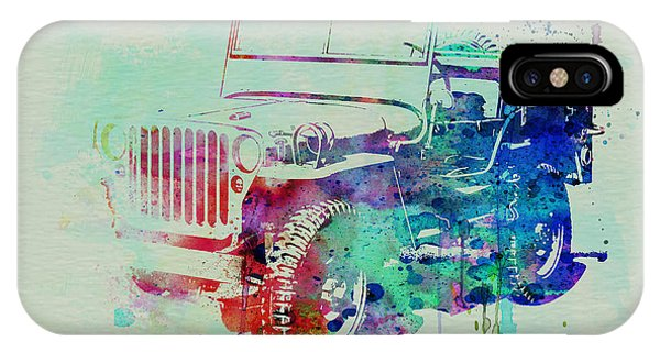 Vintage Car iPhone Case - Jeep Willis by Naxart Studio