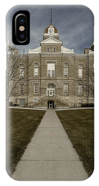 Jefferson County Courthouse In Fairbury Nebraska Rural IPhone Case