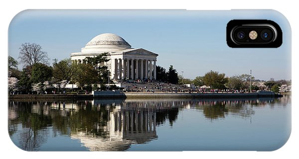 IPhone Case featuring the photograph Jefferson Memorial Cherry Blossom Festival by Steven Frame