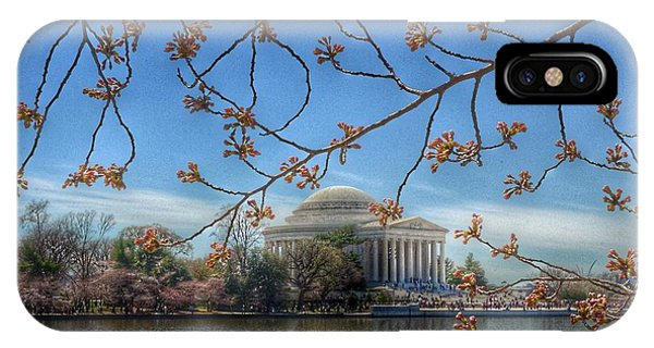 Jefferson Memorial iPhone Case - Jefferson Memorial - Cherry Blossoms by Marianna Mills
