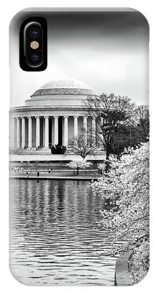 Jefferson Memorial Cherry Blosum Time IPhone Case