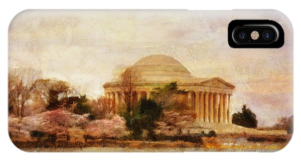 Jefferson Memorial iPhone Case - Jefferson Memorial Just Past Dawn by Lois Bryan
