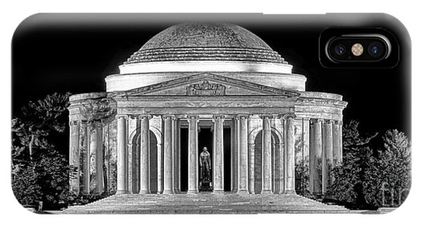 Jefferson Memorial iPhone Case - Jefferson Memorial Lonely Night by Olivier Le Queinec