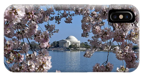 Jefferson Memorial iPhone Case - Jefferson Memorial On The Tidal Basin Ds051 by Gerry Gantt