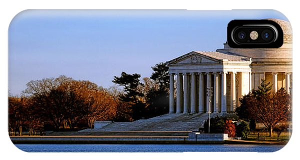 Tidal iPhone Case - Jefferson Memorial Sunset by Olivier Le Queinec