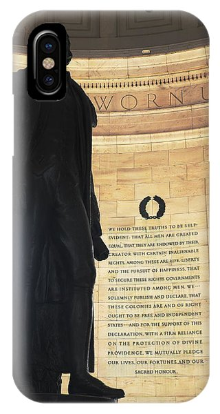 Jefferson's Words IPhone Case