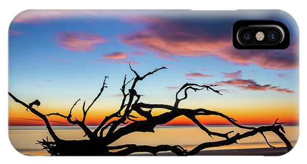 Jekyll Island Sunrise On Driftwood Beach IPhone Case