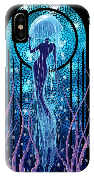 Mermaid iPhone Case - Jellyfish Mermaid by Sassan Filsoof