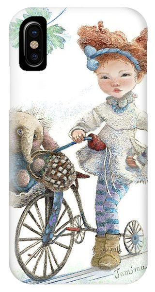 Lavender iPhone Case - Jemima Starling And Her Elephant Friend by Nancy Lee Moran