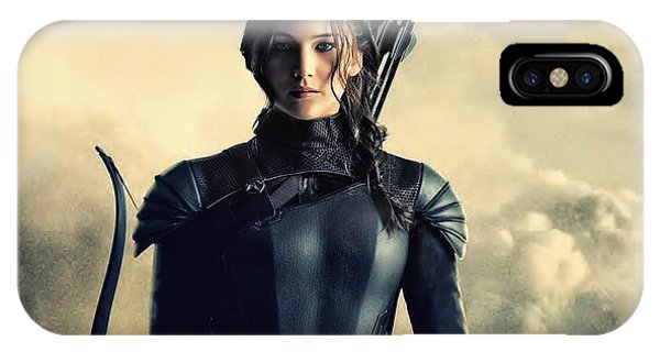 Jennifer Lawrence The Hunger Games  2012 Publicity Photo IPhone Case