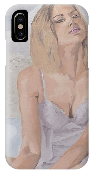 Jenny In White IPhone Case