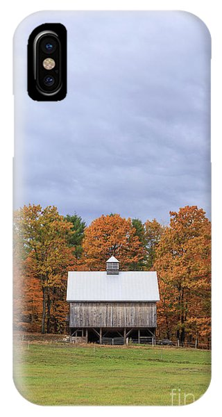 New England Fall Foliage iPhone Case - Jericho Hill Vermont Barn by Edward Fielding