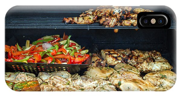 Jerk Chicken With Veggies On Grill Phone Case by Toni Thomas