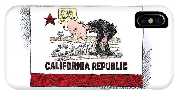 Jerry Brown - California Drought And High Speed Rail IPhone Case