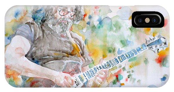 Jerry Garcia - Watercolor Portrait.15 IPhone Case
