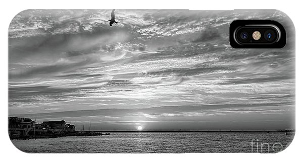 Jersey Shore Sunset In Black And White IPhone Case