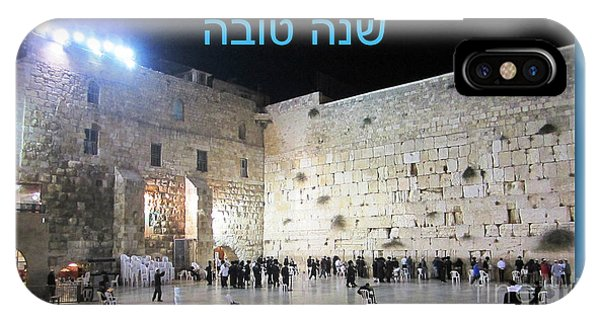 Jerusalem Western Wall Shana Tova Happy New Year Israel IPhone Case