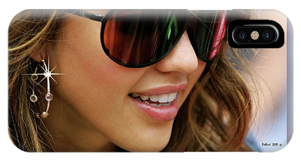 Jessica Alba iPhone Case - Jessica Alba, Cool Shades by Thomas Pollart
