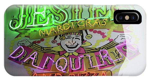 Jester Mardi Gras Sign IPhone Case