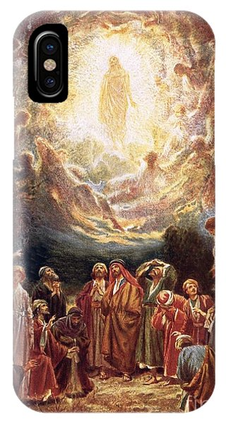 Life Of Christ iPhone Case - Jesus Ascending Into Heaven by William Brassey Hole