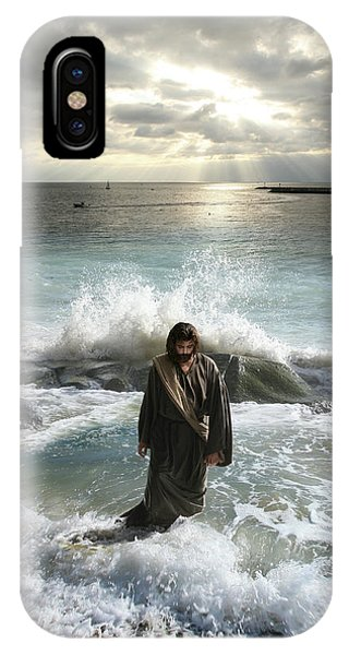 Jesus Christ- I Have Come As A Light Into The World IPhone Case