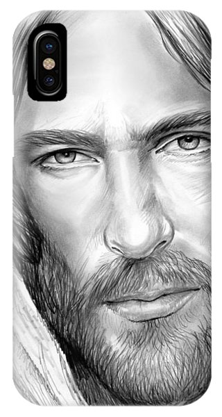 Christianity iPhone Case - Jesus Face by Greg Joens