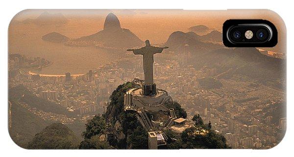 Jesus iPhone Case - Jesus In Rio by Christian Heeb