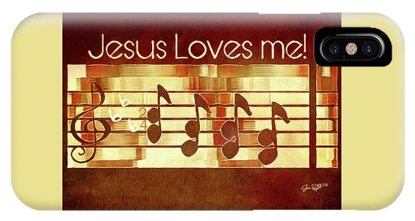 IPhone Case featuring the digital art Jesus Loves Me by Jennifer Page