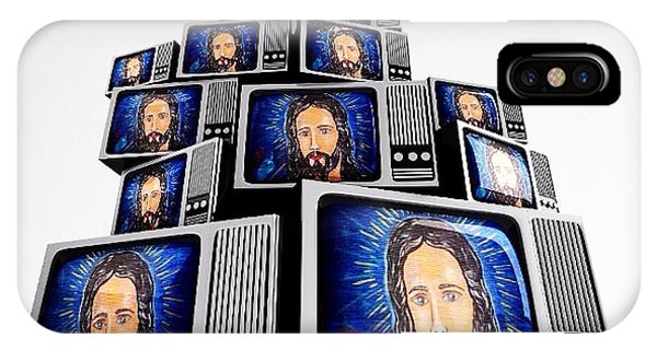 Jesus On Tv IPhone Case