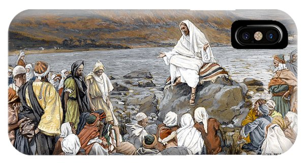 Life Of Christ iPhone Case - Jesus Preaching by Tissot