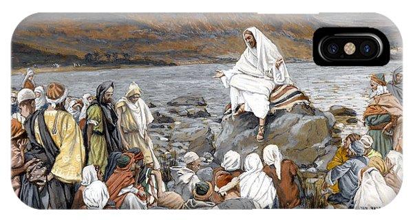 Messiah iPhone Case - Jesus Preaching by Tissot